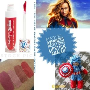 MARVEL AVENGERS Red Matte Liquid Lipstick AMAZED